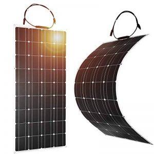 2PC Dokio Panneau solaire 100W 12V monocristallin Flexible étanche pour van camping-car caravane RV Bateau Cabine Camper Tente de la marque DOKIO image 0 produit