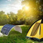 2PC Dokio Panneau solaire 100W 12V monocristallin Flexible étanche pour van camping-car caravane RV Bateau Cabine Camper Tente de la marque DOKIO image 1 produit