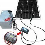 2PC Dokio Panneau solaire 100W 12V monocristallin Flexible étanche pour van camping-car caravane RV Bateau Cabine Camper Tente de la marque DOKIO image 4 produit