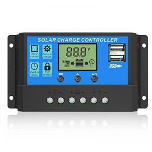 ALLPOWERS 20A Contrôleur Chargeur Solaire Régulateur Panneau Solaire Intelligent avec Port USB Affichage 12V/24V de la marque ALLPOWERS image 0 produit