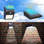 Avaspot Lumière Solaire pour l'extérieur, 30 LED Solaire Détecteur de Mouvement Lampe imperméabilisation sans Fil Lumière de sécurité actionnée Solaire pour Le Jardin de la marque Avaspot image 2 produit
