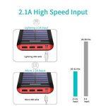 Batterie Externe AKEEM Améliorer 24000mAh Chargeur Solaire Portable avec Deux Entrées et 3 Ports USB de Power Bank Batterie pour Smartphone, et autres de la marque AKEEM image 1 produit