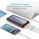 Batterie Externe AKEEM Améliorer 24000mAh Chargeur Solaire Portable avec Deux Entrées et 3 Ports USB de Power Bank Batterie pour Smartphone, et autres de la marque AKEEM image 3 produit