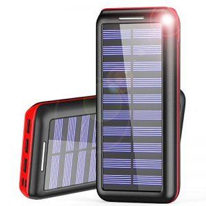 Batterie Externe AKEEM Améliorer 24000mAh Chargeur Solaire Portable avec Deux Entrées et 3 Ports USB de Power Bank Batterie pour Smartphone, et autres de la marque AKEEM image 0 produit