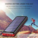 Batterie Externe AKEEM Améliorer 24000mAh Chargeur Solaire Portable avec Deux Entrées et 3 Ports USB de Power Bank Batterie pour Smartphone, et autres de la marque AKEEM image 4 produit