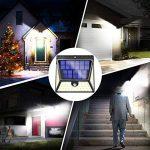 BAXiA 1640LM Lampe Solaire Exterieur, 82LED Eclairage Solaire avec 270 ° Grand Eclairage Angle, Appliqué Solaire LED Détecteur de Mouvement pour Jardin, Allée, Cour, Garage (82LED 2 pièces) de la marque BAXiA image 4 produit