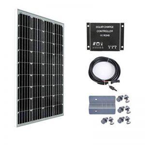 Betop-camp Kit panneau solaire 100W 12V-Panneau solaire 100W + Contrôleur de charge de lumière LCD 10A + Câble adaptateur 3m + Support de montage de la marque Betop-camp image 0 produit