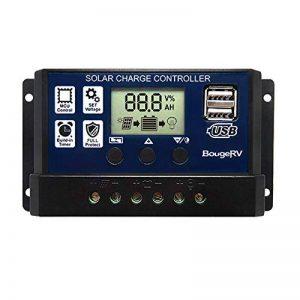 BougeRV 30A Régulateur de Charge Solaire 12V/24V avec Ecran LCD Contrôleur de Chargeur Solaire Auto Régulateur Solaire Protection pour Batterie Panneau Lampe de la marque BougeRV image 0 produit