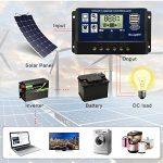 BougeRV 30A Régulateur de Charge Solaire 12V/24V avec Ecran LCD Contrôleur de Chargeur Solaire Auto Régulateur Solaire Protection pour Batterie Panneau Lampe de la marque BougeRV image 3 produit