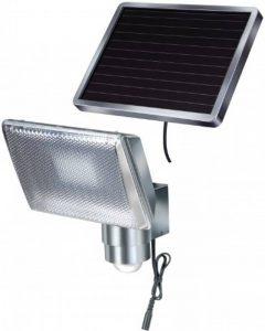 Brennenstuhl Lampe LED solaire avec détecteur de mouvements infrarouge, projecteur solaire (IP 44) à LED (8 x 0,5 W) avec câble (4,75 m), Quantité : 1 de la marque Brennenstuhl image 0 produit