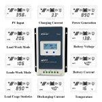 Contrôleur de charge solaire Qaurora MPPT Tracer A Series 10A/20A/30A/40A avec 12V/24V DC Identification automatique de la tension du système(40A+MT50) de la marque Qaurora image 3 produit