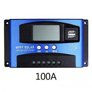 Contrôleur solaire,MPA 30A/40A/50A/ 60A /100A avec mise au point automatique Contrôleur de charge de panneau solaire intelligent,charge haute efficacité,fonction d'affichage du courant de décharge de la marque Greencolorful image 0 produit