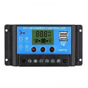 Decdeal Contrôleur 20A, Régulateur Chargeur Solaire avec Port USB Affichage pour Panneau Solaire/Batter/Lampe - 12V/24V de la marque Anself image 0 produit