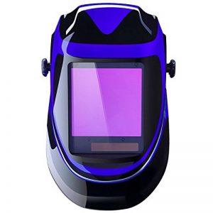 DEKO Masque de Soudure à énergie Solaire Automatique de Capot Professionnel Avec, Lentille Large Gamme de Stores Ajustable 4/9-13 pour Casques de Soudure pour Soudure à l'arc Mig Tig (Bleu) de la marque Deko image 0 produit