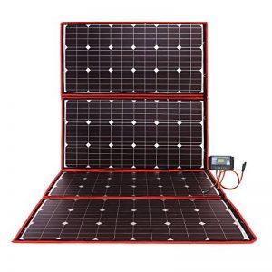 DOKIO 300 W Kit panneau solaire mono portable pliable avec contrôleur de charge solaire et câble PV pour batterie 12 V Camping-car de la marque DOKIO image 0 produit