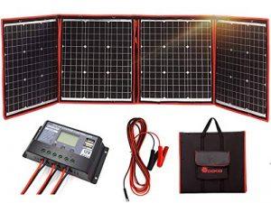 DOKIO kit Panneau Solaire 150W monocristallin Portable Flexible Pliable Incluent et contrôleur de Charge Solaire PV câble pour Chargement de Batterie 12V Camper Van de la marque DOKIO image 0 produit