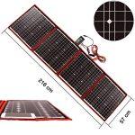 DOKIO kit Panneau Solaire 150W monocristallin Portable Flexible Pliable Incluent et contrôleur de Charge Solaire PV câble pour Chargement de Batterie 12V Camper Van de la marque DOKIO image 1 produit