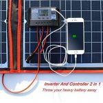 DOKIO kit Panneau Solaire 150W monocristallin Portable Flexible Pliable Incluent et contrôleur de Charge Solaire PV câble pour Chargement de Batterie 12V Camper Van de la marque DOKIO image 2 produit