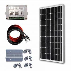 ECO-WORTHY 100 Watt 12 Volt Monocrystalline Solar Panel System: 1pc 100W Mono Solar Panel+ 15A PWM Solar Charge Controller+ Z Mounting Brackets de la marque ECO-WORTHY image 0 produit