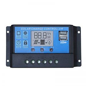 ECO-WORTHY 20 A 12 V-24 V Contrôleur Régulateur de charge solaire intelligent USB Port Écran de la marque ECO-WORTHY image 0 produit