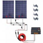 Eco-Worthy Kit de panneaux solaires hors réseau 200 Watt 12 V/24 V – 2 panneaux solaires 100 W polycristallin + contrôleur intelligent régulateur solaire 20 A pour Système de chargement 12 V ou 24 V de la marque ECO-WORTHY image 1 produit