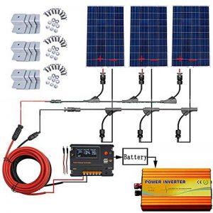 ECO-WORTHY Kit panneau solaire 360W hors grille: inverseur sinusoïdal pur 1000W 220V + panneau solaire polycristallin PCS 120W + contrôleur de chargeur de batterie 20A pour bateau récréatif de la marque ECO-WORTHY image 0 produit