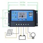 ECO-WORTHY Panneau Solaire Kit 100 W Mono Solaire Photovoltaïque W / 20A LCD Chargeur de la marque ECO-WORTHY image 4 produit