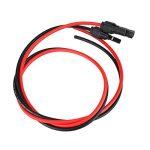 Fdit Connecteurs Solaires Paire de 2.5mm Panneau Solaire PV Câble Fil Mâle et Femelle MC4 pour Système d'Alimentation Solaire Rouge et Noir 3.5FT de la marque Fdit image 1 produit