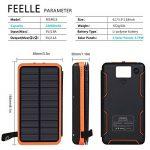 FEELLE Chargeur Solaire 24000 mAh, Portable Power Bank 3 Panneaux solaires vec 2Ports USB Deux Entrées(Lighting Micro), Compatible Smartphone, Tablette Autres de la marque FEELLE image 1 produit