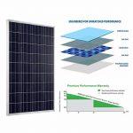 Giosolar 100w 12v module solaire polycristallin panneau solaire photovoltaïque cellule solaire idéal pour recharger les piles 12 volt de la marque Giosolar image 4 produit