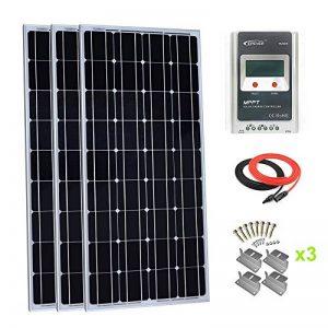 Giosolar kit Panneau Solaire monocristallin de 300W avec MPPT 30A LCD Solaire contrôleur de Charge pour RV Bateau Système Hors-Réseau de la marque Giosolar image 0 produit