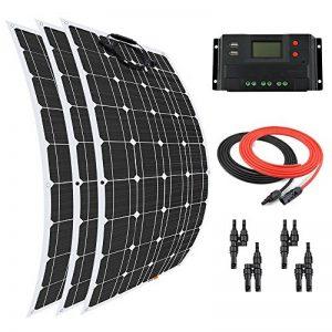 Giosolar Panneau solaire 300W Flexible kit Panneau solaire chargeur de batterie monocristallin 30A Écran LCD contrôleur de charge pour bateau caravane Photonic Universe de la marque Giosolar image 0 produit