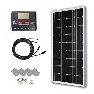 HQST Panneau solaire monocristallin 100Watt 12Volt 100W Mono Kit de la marque HQST image 0 produit
