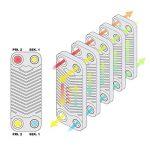 Hrale Échangeur de chaleur thermique inox 40 plaques max. 165 kW Eau Solaire de la marque WilTec image 3 produit