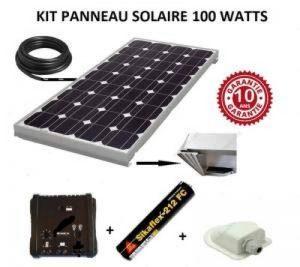 Kit panneau solaire 100w 12v camping car / bateau de la marque ANTARION image 0 produit