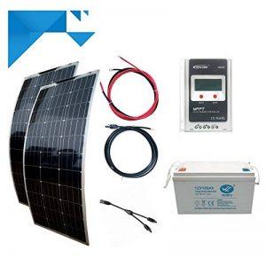 Kit Solaire 200W 12V Souple MPPT EPEVER Autonome avec Batterie 1200W de la marque EPEVER image 0 produit
