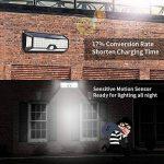Lampe Solaire Exterieur Detecteur de Mouvement,Lacyie 136 LED Automatique Lampe Solaire Exterieur Jardin,Etanche IP65,3 Modes avec Grand Angle Lumière Solaire Extérieur Pour Escalier,Patio,Garage,Mur de la marque Lacyie image 4 produit