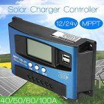 lzndeal 40A-100A MPPT Dispositif de Suivi de Mise au Point Automatique 12V / 24V de régulateur de Charge de Panneau Solaire de la marque lzndeal image 4 produit