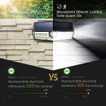 Mpow 30 LED Eclairage Solaires Extérieure Etanche IPX6+, Nouvelle Génération Détecteur de Mouvement, Panneau Solaire 23% Conversion, Spot Solaire pour Jardin, Allée, Cour, Garage, Escalier de la marque Mpow image 3 produit