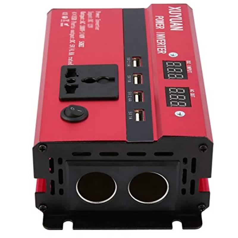 TOPmountain Convertisseur d/énergie Solaire de Pointe 1000W pour Voiture convertisseur DC 12V /à 110V pour appareils m/énagers de t/él/éphone