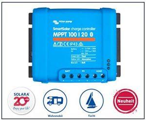 Pack Premium victron Régulateur de charge SmartSolar MPPT 100/20, (12/24V), pour camping-car et Yacht de la marque SOLARA image 0 produit