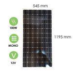 Panneau solaire 100w-12v monocristallin - victron energy de la marque VICTRON ENERGY image 2 produit