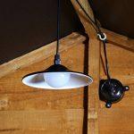 Plafonnier LED Solaire Lampe en Métal - Éclairage 4 LED Blanches (Pile Rechargeable Incluse) - Parfait Garages, Cabanons de Jardin par Festive Lights (Noir) de la marque Festive Lights image 3 produit