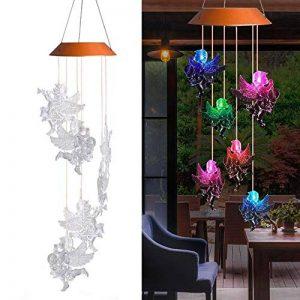 PROKTH Carillons éoliens solaires à LED éconergétiques - LED Lampe - 7 couleurs - pour Noël, Halloween, jardin, cour - Ange - 1pcs de la marque PROKTH image 0 produit