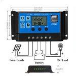 Qaurora Régulateur de charge intelligent de contrôleur de charge solaire avec la double sortie d'USB 5V pour la protection de surcharge de lampe de batterie de panneau solaire (30A) de la marque Qaurora image 3 produit