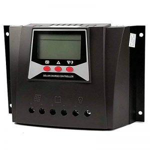 Régulateur de charge solaire 60A 12V 24V 36V 48V Régulateurs d'entrée PWM 100V avec rétroéclairage Moniteur LCD avec compensation de température (60A, 12v / 24v / 36v / 48v) de la marque Fuhuihe image 0 produit