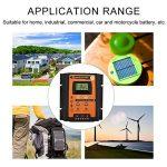 Régulateur de Charge Solaire, Keenso Contrôleur de Charge de Panneau Solaire MPPT Intelligent avec Ecran LCD Régulateur Batterie Affichage avec Double USB (50A) de la marque Keenso image 3 produit