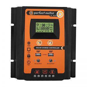 Régulateur de Charge Solaire, Keenso Contrôleur de Charge de Panneau Solaire MPPT Intelligent avec Ecran LCD Régulateur Batterie Affichage avec Double USB (50A) de la marque Keenso image 0 produit