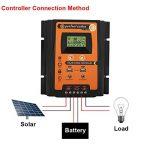 Régulateur de Charge Solaire, Keenso Contrôleur de Charge de Panneau Solaire MPPT Intelligent avec Ecran LCD Régulateur Batterie Affichage avec Double USB (50A) de la marque Keenso image 2 produit