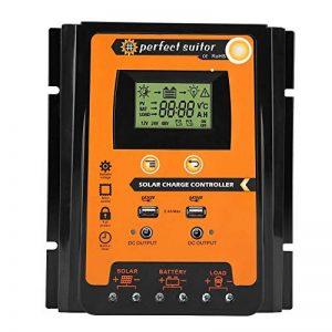 Régulateur de Charge Solaire, Keenso Contrôleur de Charge de Panneau Solaire MPPT Intelligent avec Ecran LCD Régulateur Batterie Affichage avec Double USB (70A) de la marque Keenso image 0 produit